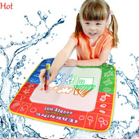 Wholesale Hot cm New Water Drawing Mat with Magic Pen Russian Childs Water Drawing Board Baby Kids Toys Educational Learning Mat Board