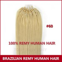 Wholesale 100 Brazilian Remy Human Extensions Micro Ring Loop Hair g s quot quot quot Light Blonde
