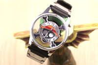 Precio de Relojes de pulsera piezas-El Anime caliente de la historieta 3pcs / Lot una pieza se divierte el envío libre al por mayor del regalo del ventilador de los muchachos de los cabritos del Anime del reloj de la mano de la muñeca de Luffy Cosplay del ocio de los deportes
