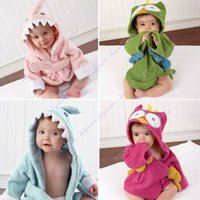 baby bathrobe - 2015 New Baby Toddler Girl Boy Animal Cartoon Pattern Bathrobe Towel robes Years Old colors