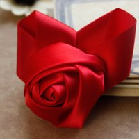 wedding rose petals cheap - 2015 Romantic Red Artificial Rose Boutonnieres For Bride Groom Bridesmaid Unique DIY Rose Wedding Party Petals Custom Made Cheap Flowers DH