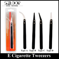Wholesale Electronic Cigarettes Ceramic Tweezer Stainless Steel DIY Coil RDA Tweezer Swiss Quality Top Notch Building Tool DHL Free