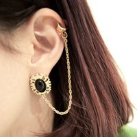 baroque times - 2015 Time limited Limited Ear Cuff Black White Models Big European And American Baroque Alloy Ear Clip Earrings Fashionable Factory Outlets