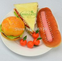 Wholesale Simulation model sandwich Kentucky Fried chicken hamburgers hot dogs kitchen cabinet display baking props