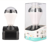 Wholesale DHL Free Wholesales W E27 Wireless Bluetooth Speaker RGB Color Smart LED Light Bulb Lamp Newest New Arrival