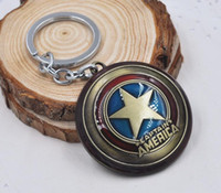 Promotion avengers bottle - NEW Movie Key Chain Marvel s The Avengers Captain America shield Alloy keychain wedding favors keychan cc28