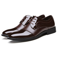 alligator dress shoes - High Quality Leather Men Shoes Cowhide Pointed Toe Fashion Alligator Patchwork Casual Business Oxford Shoes Size TA0074 kevinstyle