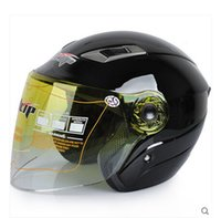 Wholesale JLIP Motorcycle helmet Electric bicycle helmet Autumn and winter half Face helmet knight safety helmet for men and women FREE SIZE