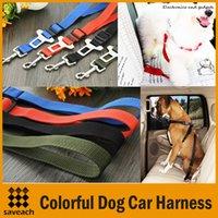 Wholesale 4 Colors Dog Car Harness Safety Seatbelt Adjustable Car Vehicle Safety Seatbelt Seat Belt Harness Leads