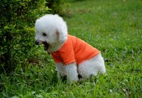 Wholesale New Puppy Pet Dogs Clothes POLO Cotton Jacket T Shirt I Dog Clothing Size XS S M L XL Colors Christmas Gifts Free