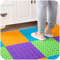 Wholesale Multifunctional Color Bathroom Shower Mats Anti slip Eco Friendly PE Rubber Room Floor Rug Massage Mats SK756