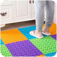 bathroom rugs - Multifunctional Color Bathroom Shower Mats Anti slip Eco Friendly PE Rubber Room Floor Rug Massage Mats SK756