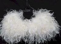 fur capes - Glamourous Ostrich Feather Stole Bridal Bolero Jacket Mini Fur Cape Fur Wrap Shrug Jacket Accessories Hand Make