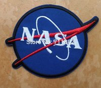 aviation patches - NASA blue iron on patches Aviation Logo clothes patch coat accessory Badge embroider Appliques