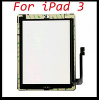 Wholesale touch screen for Apple ipad touch digitizer screen glass replacement with Home Button M Adhesive by DHL