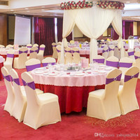 Wholesale Universal White Spandex Wedding Lycra Chair Covers for Wedding Banquet Hotel Decoration Hot Sale