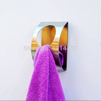 Europe adhesive wall clips - 2 pieces stainless steel wall mounted bathroom adhesive hook diy handkerchief dishclout towel clip