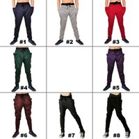 harem pants men - 2015 Mens Joggers Fashion Harem Pants Trousers Hip Hop Slim Fit Sweatpants Men for Jogging Dance Colors sport pant