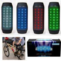 Wholesale BQ LED Light Speaker Portable Bike Wireless Bluetooth Stereo Bass Mini Car Handsfree Magic Dancing SD FM MP3 Player for iPhone S6