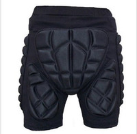 Wholesale Black Short Protective Hip Butt Pad Ski Skate Snowboard roller skating skiing protection drop resistance roller padded Shorts