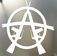 Wholesale Drop shipping Anarchy Sticker M16 quot AR15 SOA sons wall AR M GUN car sticker