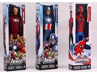 Wholesale The Avengers Action Figures cm PVC Marvel Heros Iron man Spider man Captain America Collections Christmas Gift S30223