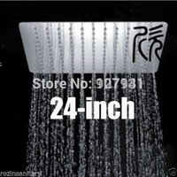 Cheap 24 inches Square Stainless Steel Overhead Rain Shower Head Bathroom Top Shower Head Polished Chrome