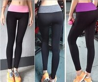 Wholesale Sports Pants Force Exercise Women Sports Yoga Tights Elastic Fitness Running Leopard Trousers Slim Aerobics Pants AB034