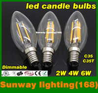 e12 bulb - Candle globes bulbs w w w e12 e14 e26 e27 b22 dimmable Led Bulb crystal lamp chandelier warm cool white bright lamp