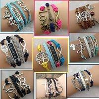 Wholesale Women Braided Bracelet Handmade Hollow Chain Cuff Bangle Vintage Multilayer Hot sale