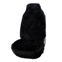 sheepskin car seat covers - AUTOYOUTH Pure Sheepskin Wool Black Car Seat Cover Fit All Vehicle Front Seats Interior Accessories Seat Covers of Cars