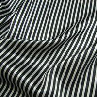 silk stretch satin - Black and white vertical stripes silk stretch satin fabric silk cloth fabric handmade clothing