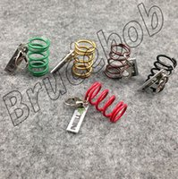 adjustable coilover springs - Gift packaging Adjustable Coilover Shock Absorber Spring Damper tuning keychain keyring keyfob key chain colors