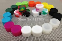 Wholesale food grade solid nonsolid color ml silicone wax box Wax Containers silicone container X17mm