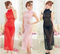 Wholesale 2014 new zentai PR improved cheongsam dress sexy nightclub sexy lingerie sexy transparent clothes cheongsam style game shooting clothes