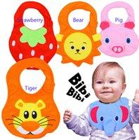 bur - 3PCS Can Sound Baby Cotton Waterproof Bibs Infants Baby Cartoon D Design Bibs Kids Bur Cloths
