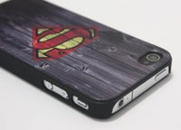 Wholesale Super Man S Logo Wood Pattern Hard Plastic Cover Case For Apple iPhone S iPhone S C iPhone iPhone Plus