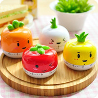 Wholesale 1 min Degree Popular Lovely cm Fashion Cute Indoor Kitchen Tomato Mechanical Countdown Timer New
