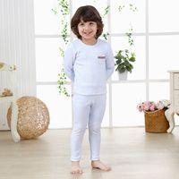 baby thermal shirt - Thermal Underwear Set Toddler Kid Children Baby Boy Girl Solid Cartoon Long John Winter Warm Top Pants Outfits Free Ship