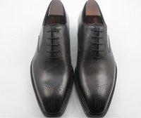 Wholesale Men Dress shoes Oxfords shoes Men s shoes Custom handmade shoes Genuine calf leather wingtip brogue shoes HD