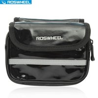 Wholesale Roswheel Bike Bag Pannier Cellphone Waterproof Riding Equipment Cycling Bicycle Accessories Front Top Frame Quality Leather Bags