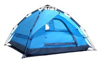 Wholesale Camping Tent Automatic Tents Three People Outdoor Tent Camping Tents Double Undertake Spacer Material Fiberglass Rod Tent Camping