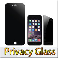spy glasses - For Iphone Note5 Privacy Anti Spy Real Tempered Glass Screen Protector Shield For Iphone Cover Shield For Galaxy S6 With Retail Package