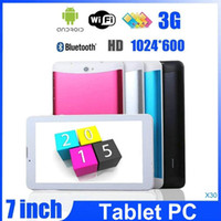Wholesale MTK6572 inch g tablet pc dual core Android GPS bluetooth FM GSM WCDMA g sim card slot dual Sim phone call tablets OM A1
