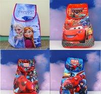 Wholesale Many cartoon pattern BIG HERO frozen Backpacks big hero kisd waterproof nylon school bags hero Children s Bags big boy car patterns