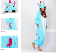 Wholesale Nico the Unicorn Adult Pink Blue Unicorn onesie mascot costume Women Men animal pajamas pyjama Jumpsuit party halloween costume