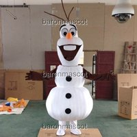 Wholesale Olaf Mascot Costume From Frozen Snowman Olaf Mascot Cartoon Character Costume Adult Size Christmas Clothing