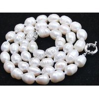 akoya rice pearl necklace - Long quot MM Rice White akoya cultured pearl Beads Fashion necklace
