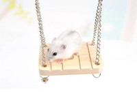 Wholesale 2015 New parrot hamster toys wooden bells swing suspension poppled hanging ladder w2008