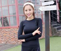 Wholesale NEW fashion yoga shirts women fitness clothing clothes Dance tops Team T shirt S M L XL